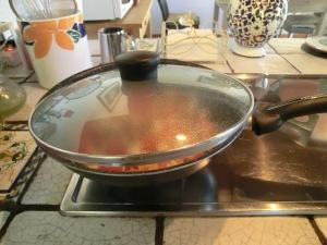 seppie in cottura con fuoco al minimo 1 h pentola coperta